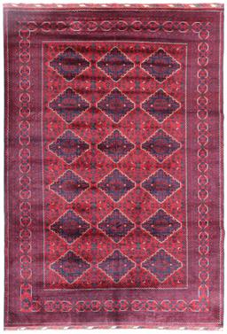Sale 9181C - Lot 30 - Fine Belgium wool tribal rug with repeated diamond motifs throughout 292 x 198cm