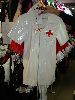 Sale 7490 - Lot 1255 - 2 WHITE PVC NURSES COSTUMES - RED CAPES