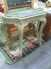 Sale 7944A - Lot 1006 - Marble Top Console Table with Mirror Back A/F (73)