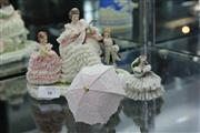 Sale 8081 - Lot 26 - Crinoline Group of Two Figures