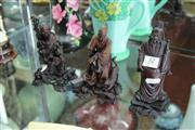 Sale 8100 - Lot 32 - Chinese Carved Set of 3 Figures