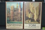 Sale 8338 - Lot 1003 - Set of Four English Railway Destination Framed Posters
