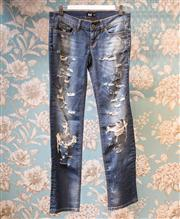 Sale 8474A - Lot 6 - A pair of D&G ripped leg jeans, excellent condition, size 27 (8-9)