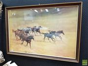 Sale 8493 - Lot 1065 - Vintage Harland Young Horses Print