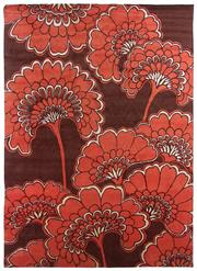 Sale 8563A - Lot 16 - The Florence Broadhurst Collection Design; Japanese Floral Made in; Nepal Colour; Scarlet Made from; Tibetan Wool & Chinese...