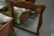 Sale 8566 - Lot 1664 - Timber Framed Mirror