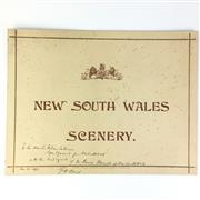 Sale 8793 - Lot 62 - George Reid, signed 1899. A NSW Government presentation card (30 x 45cm) inscribed and signed by Premier Reid
