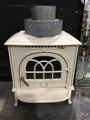 Sale 8795 - Lot 1011 - Cast Iron Jotul Fireplace incl. Flue (stored outside separately)