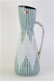 Sale 8802 - Lot 57 - Australian Made Pottery Handled Vase, H; 50cm (handle repaired)