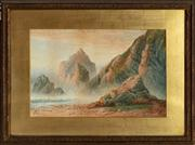 Sale 8818A - Lot 15 - BJ. S PerryDRI LandscapeDR watercolourR30 x 49cmR signed and dated LL 1883, slight foxing
