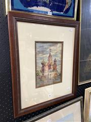 Sale 8895 - Lot 2097 - Artist Unknown - Moscow, framed watercolour, unsigned