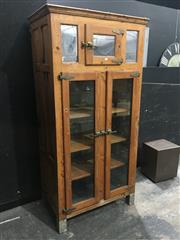 Sale 8967 - Lot 1004 - Vintage Baltic Pine Meat Safe Converted to Display Case (H:206 x W:102 x D:62cm)