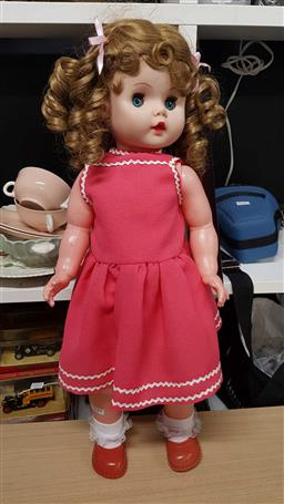 Sale 9176 - Lot 2644 - Evergreen doll with new hair look and eyelashes (L:64cm)