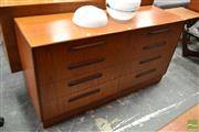 Sale 8511 - Lot 1054 - G-Plan Teak Chest with Eight Drawers