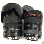 Sale 8648A - Lot 7 - Canon EF 17-35mm USM L-Series Lens with Filter together with Canon 28-135mm USM Lens with Filter & Hood