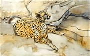 Sale 8692 - Lot 532 - William Boissevain (1927 - ) - Cheetah, 1983 52.5 x 83.5cm