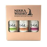 Sale 8727 - Lot 757 - 1x Nikka Whisky Miyagiko Distillery Single Malt Japanese Whisky Box Set - 3x 200ml bottles, 55% ABV