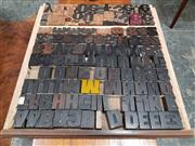 Sale 8741 - Lot 1091 - Collection of Vintage Timber Printers Blocks
