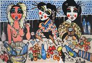 Sale 8934A - Lot 5001 - Yosi Messiah (1964 - ) - Girls Having Fun 122 x 178cm