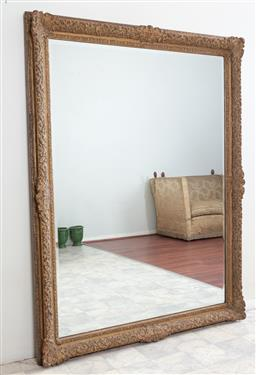Sale 9135H - Lot 159 - A large 19th Century French mirror, may be displayed horizontally. 1.72M Height, 1.32M Width