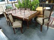 Sale 7944A - Lot 1007 - 9 Piece Dining Setting incl. 8 Dining Chairs