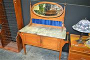 Sale 8156 - Lot 1009 - Marble Top Washstand With Mirrored Back