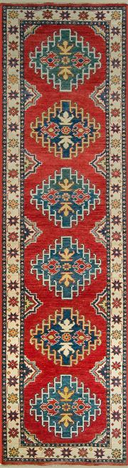 Sale 8345C - Lot 51 - Afghan Kazak Runner 306cm x 78cm