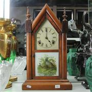 Sale 8379 - Lot 62 - Ansonia Timber Cased  8 Day Gothic Clock
