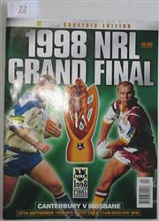Sale 8418S - Lot 22 - 1998 GRAND FINAL 27th Sept Vol 79 Canterbury v Brisbane