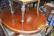 Sale 8444 - Lot 1032 - Victorian Walnut Loo Table, the oval top on turned pedestal & outswept legs