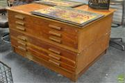 Sale 8511 - Lot 1066 - Pine Two Piece Map Chest