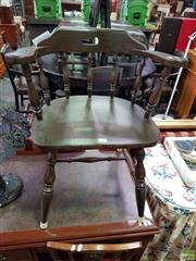 Sale 8589 - Lot 1068 - Timber Captains Style Chair
