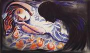 Sale 8659 - Lot 2002 - Charles Blackman - Orpheus, Decorative Print, ed. 295/600, 63 x 88cm (frame size), signed lower right