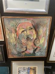 Sale 8898 - Lot 2007 - Artist Unknown - Girl oil on canvas, 51.5 x 51.5cm, unsigned