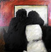 Sale 8945A - Lot 5011 - Kevin Charles (Pro) Hart (1928 - 2006) - The Lovers, Brewarrina Hotel, 1978 90 x 90 cm