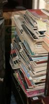 Sale 7670A - Lot 668 - Two shelf lots containng a box and two stacks of gramophone magazines