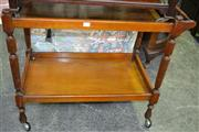 Sale 8093 - Lot 1112 - Tiered Timber Serving Trolley