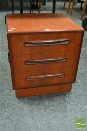 Sale 8511 - Lot 1087 - G-Plan Teak Chest of Three Drawers