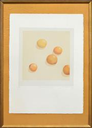 Sale 8282A - Lot 29 - Tim Storrier (1949 - ) - His Lunch - ? Fruit?, 1975 45 x 42.5cm
