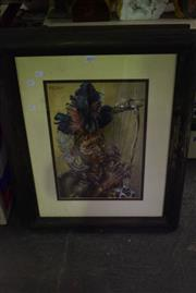 Sale 8346 - Lot 2093 - Pair of African Warrior Pictures
