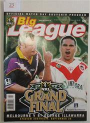 Sale 8418S - Lot 23 - 1999 GRAND FINAL Sept Vol 80 No. 30 Melbourne v St George