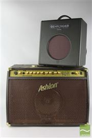 Sale 8512 - Lot 6 - Ashton Guitar Amplifier with A Behringer Example