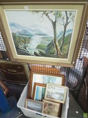 Sale 8563T - Lot 2240 - Group of (7) Original Paintings by Thelma Wyner (various sizes/framed/each signed lower )