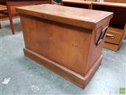 Sale 8607 - Lot 1009 - Timber Lift Trunk with Early Kooka to Top
