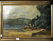 Sale 8794 - Lot 2008 - Lucy M B Quaife - Bay Scene, Sydney Harbour 1897 oil on canvas, 37.5 x 52.5cm, signed and dated lower right