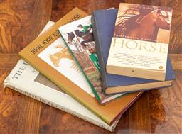 Sale 9190W - Lot 26 - A Collection of horse related books (4) together with Life of Captain Cook.