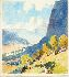 Sale 3809 - Lot 48 - RUBERY BENNETT (1893 - 1987) - The Track to the Valley, 1938 17.5 x 16 cm