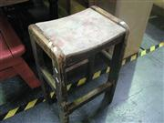 Sale 7974A - Lot 1043 - Rustic Painted Stool