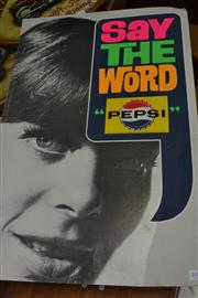 Sale 8054 - Lot 1086 - 1970s Pepsi Say the word! Advertising Poster