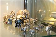 Sale 8189 - Lot 195 - Christofle Elephant Figure with Others incl. Cloisonne